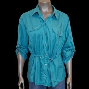 Chico's Button Down Cargo Styled Shirt